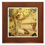 'Bathing Hawaiian Beauties' Framed Tile
