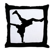 Breakdancing Throw Pillow