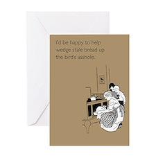 Stuff Bird's Asshole Greeting Card