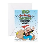 Bo-ho-ho Christmas Greeting Cards (Pk of 10)