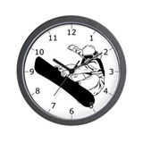 Snowboard 3 Wall Clock