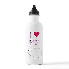 I Love My Guinea Pig Water Bottle