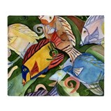 Tropical Fish School Throw Blanket