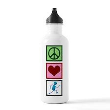Peace Love Run Water Bottle