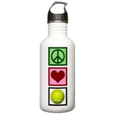 Peace Love Tennis Water Bottle