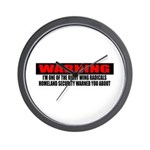Right Wing Radical Wall Clock