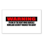 Right Wing Radical Sticker (Rectangle 50 pk)