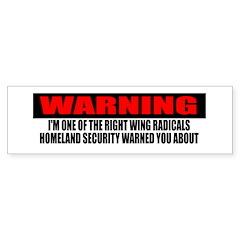 Right Wing Radical Sticker (Bumper 10 pk)