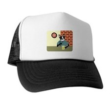 Boston Terrier Beer Pub Trucker Hat