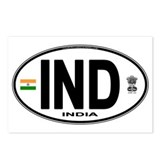 India Euro Oval (IND) Postcards (Package of 8)