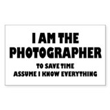 I am the Photographer Decal