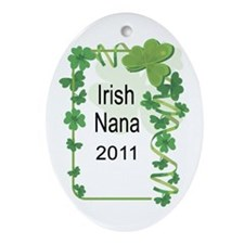 IRISH NANA 2011 Ornament (Oval)