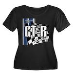 GTR Racing Women's Plus Size Scoop Neck Dark T-Shi