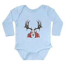 Mule deer tag out Long Sleeve Infant Bodysuit