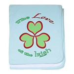 Love of the Irish baby blanket