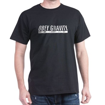 Obey Gravity Dark T-Shirt | Gifts For A Geek | Geek T-Shirts