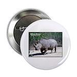 White Rhino Rhinoceros Photo Button