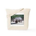 White Rhino Rhinoceros Photo Tote Bag