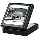 White Rhino Rhinoceros Photo Keepsake Box