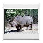 White Rhino Rhinoceros Photo Tile Coaster