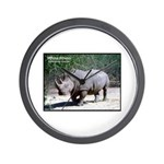 White Rhino Rhinoceros Photo Wall Clock