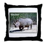 White Rhino Rhinoceros Photo Throw Pillow