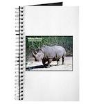 White Rhino Rhinoceros Photo Journal
