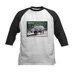 White Rhino Rhinoceros Photo Kids Baseball Jersey