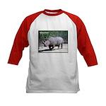 White Rhino Rhinoceros Photo (Front) Kids Baseball