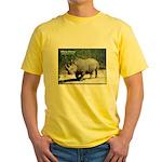 White Rhino Rhinoceros Photo Yellow T-Shirt