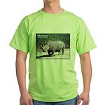 White Rhino Rhinoceros Photo Green T-Shirt