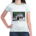 White Rhino Rhinoceros Photo Jr. Ringer T-Shirt