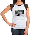 White Rhino Rhinoceros Photo Women's Cap Sleeve T-
