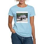 White Rhino Rhinoceros Photo Women's Pink T-Shirt