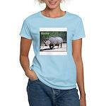 White Rhino Rhinoceros Photo (Front) Women's Pink