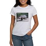 White Rhino Rhinoceros Photo Women's T-Shirt