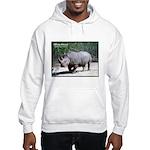 White Rhino Rhinoceros Photo Hooded Sweatshirt