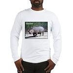 White Rhino Rhinoceros Photo (Front) Long Sleeve T