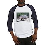 White Rhino Rhinoceros Photo Baseball Jersey