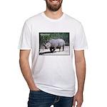 White Rhino Rhinoceros Photo Fitted T-Shirt