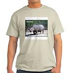 White Rhino Rhinoceros Photo (Front) Ash Grey T-Sh