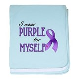 Wear Purple - Myself baby blanket
