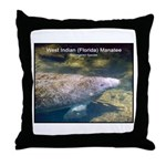 Florida Manatee Photo Throw Pillow