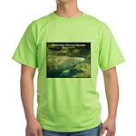Florida Manatee Photo Green T-Shirt