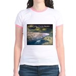 Florida Manatee Photo (Front) Jr. Ringer T-Shirt