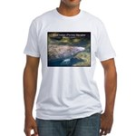 Florida Manatee Photo Fitted T-Shirt