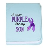 Wear Purple - Son baby blanket