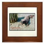 Gila Monster Lizard Photo Framed Tile