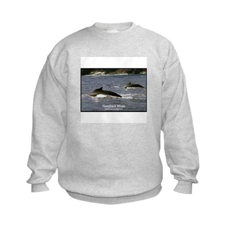Humpback Whale Photo (Front) Kids Sweatshirt