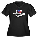 I Love Chilean Boys Women's Plus Size V-Neck Dark